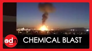 Massive Explosion at Spanish Chemical Plant Caught on Camera