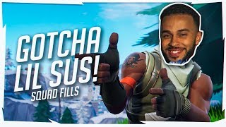 Lil Sus Gets TROLLED! Hilarious Squad Fill Game (Fortnite Battle Royale Season 7)