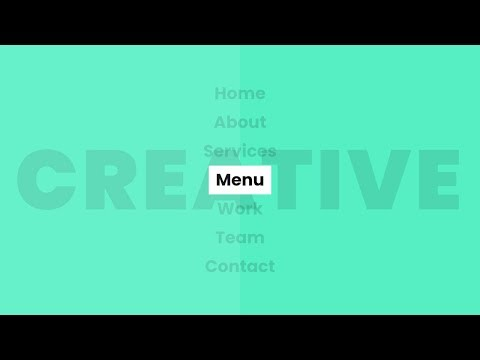 Pure CSS Creative Menu Hover Effects | Html5 CSS3 Tutorial