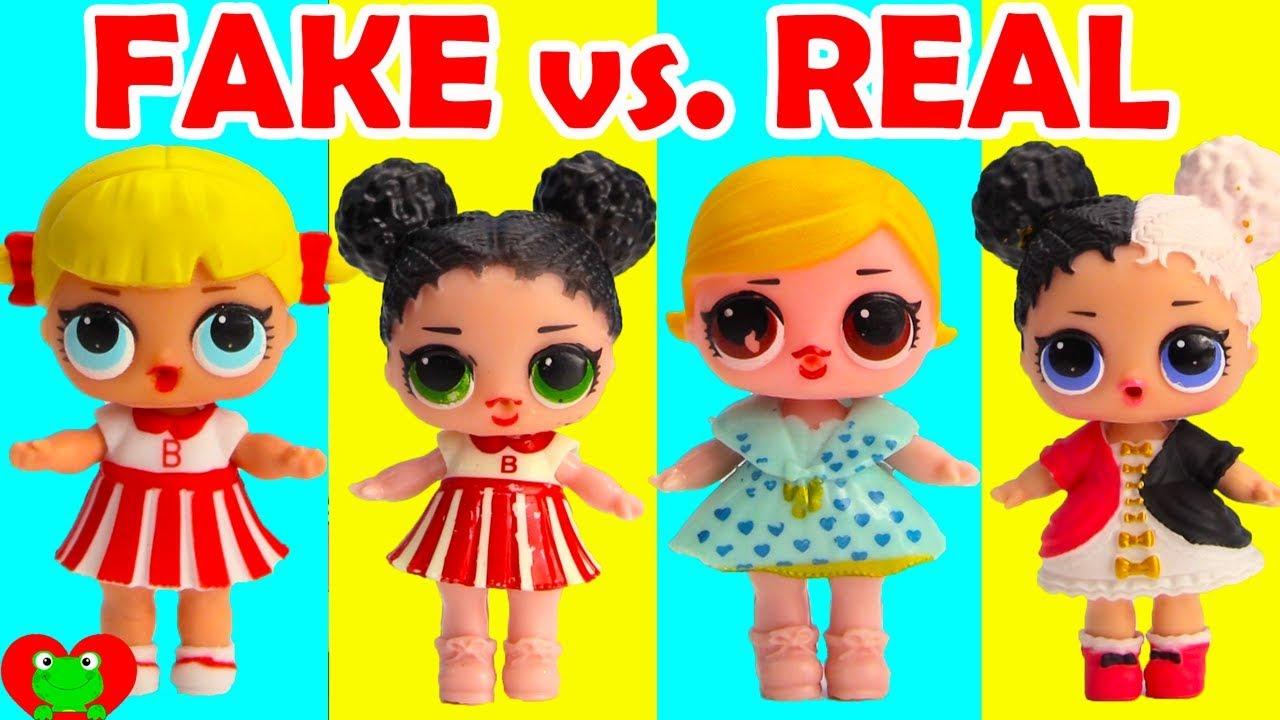 Fake Lol Surprise Dolls Fake Vs Real Youtube