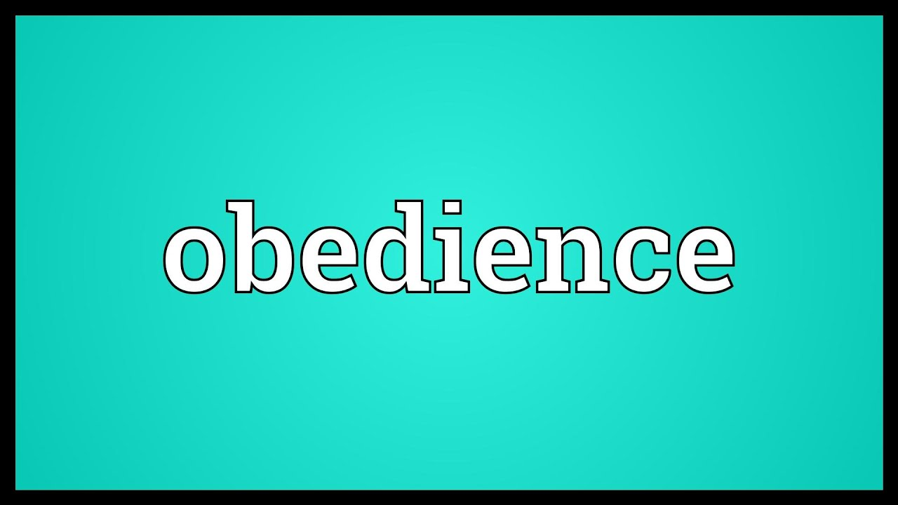 an analysis of quality of being obedient Noun the state or quality of being obedient the act or practice of obeying dutiful or submissive compliance: military service demands obedience from its members a sphere of authority or jurisdiction, especially ecclesiastical.