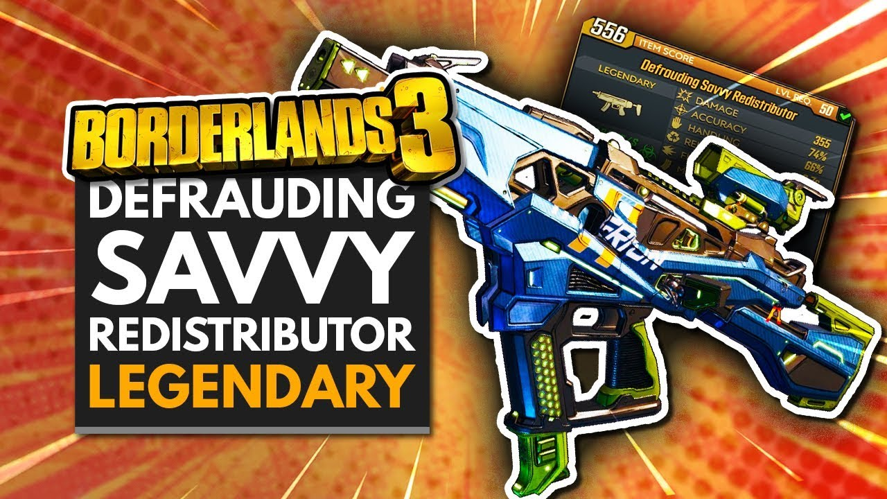 BORDERLANDS 3 | NEW 'Defrauding Savvy Redistributor' Legendary SMG thumbnail