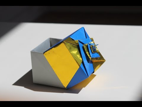 Origami spiral box by Tomoko Fuse