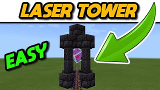 Minecraft Laser Tower Tutorial 1.16 #Shorts