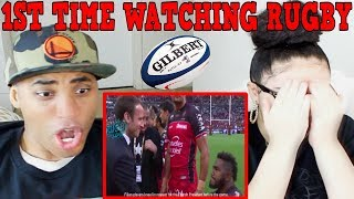Most Brutal Rugby Tackles ! REACTION | MY DAD REACTS