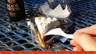 Teds Bakery Choclate Haupia Pie - Sunset Beach Oahu - Scott Sylvan Bell [travelblogtropical.com]
