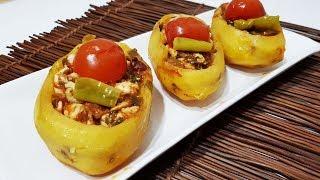 Porsiyonluk Fırında Tavuk Soteli Patates Dolması TarifiTek Başına Muhteşem Bir Ana Yemek