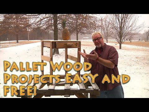 Easy Pallet Wood Projects that were FREE (mostly)