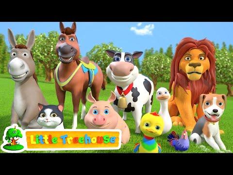 Animal Sound Song | Kindergarten Videos For Children | Cartoons Videos By Little Treehouse