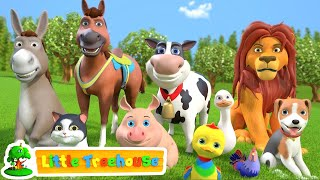 Animal Sound Song  Kindergarten Videos for Children  Cartoons Videos by Little treehouse