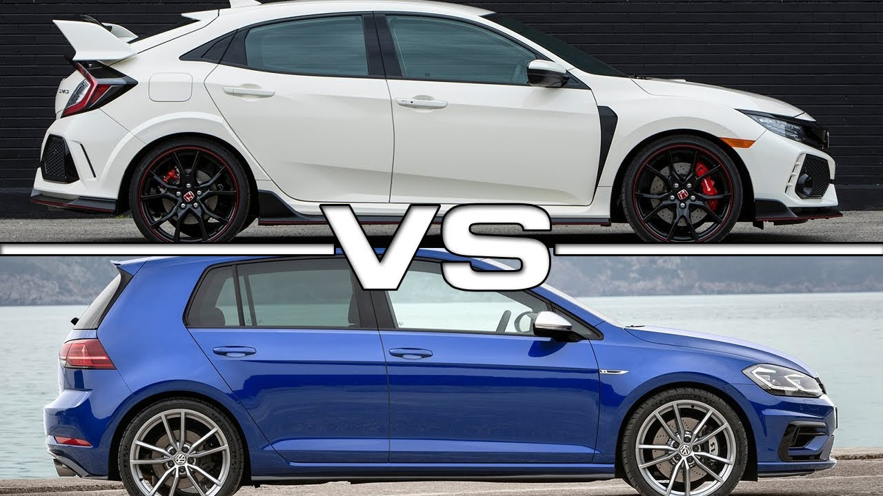 2018 honda civic type r vs 2018 volkswagen golf r youtube. Black Bedroom Furniture Sets. Home Design Ideas