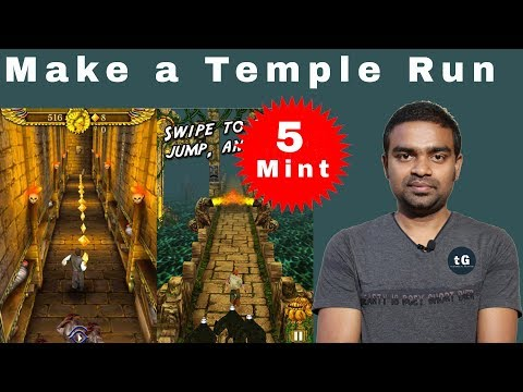 Make a Temple Run Game Within 5 Minute - Earn Money with Develope Android Game