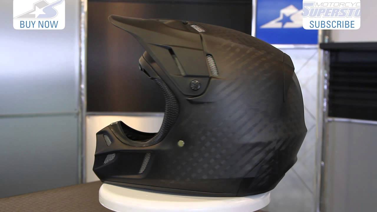 24dac0df Fox V4 Matte Carbon Helmet | Motorcycle Superstore - YouTube