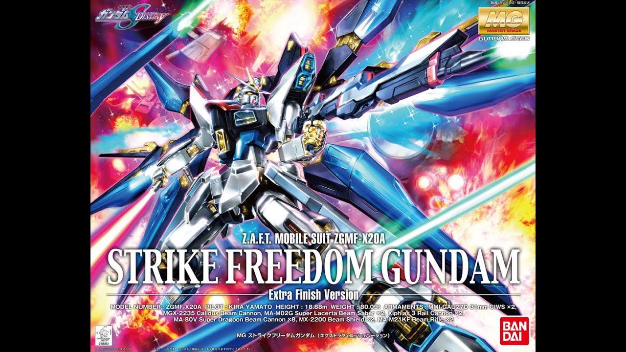 Mg Strike Freedom Gundam Extra Finish Unboxing Part 1 Youtube Rx78 2 Verka 114215
