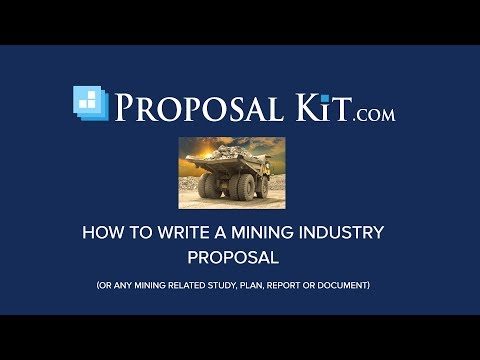 How To Write A Mining Industry Proposal