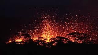 Breathtaking Night Video Of Massive Lava Fountains As Fissure 18 Erupts