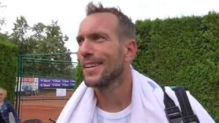 Jan Mertl po porážce ve čtvrtfinále Rieter Open Pardubice 2018