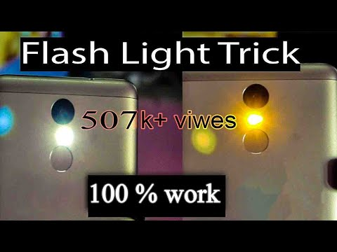 Redmi Note 3 - Flash light Trick - 100% Work - Mi - Android