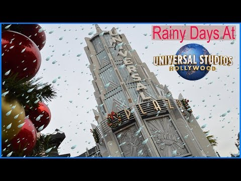 What Is A Rainy Day Like At Universal Studios Hollywood?