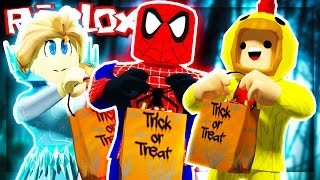 Roblox Adventures - GOING TRICK OR TREATING IN ROBLOX! (Trick or Treat in Hallowsville)