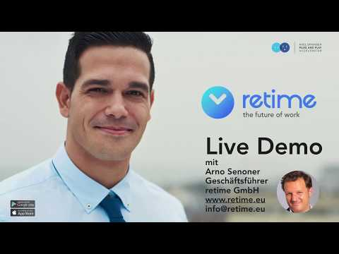 retime™ GmbH: Mobile Mitarbeiter besser managen | Live Demo No Audio