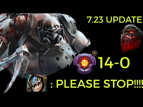 HOW TO MASSACRE SAFELANE CARRY BY BHOKONG MASTERTIER PUDGE   OFFLANE   7.23 UPDATE    Pudge dotes