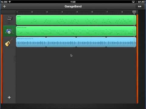Saving GarageBand File to iPad