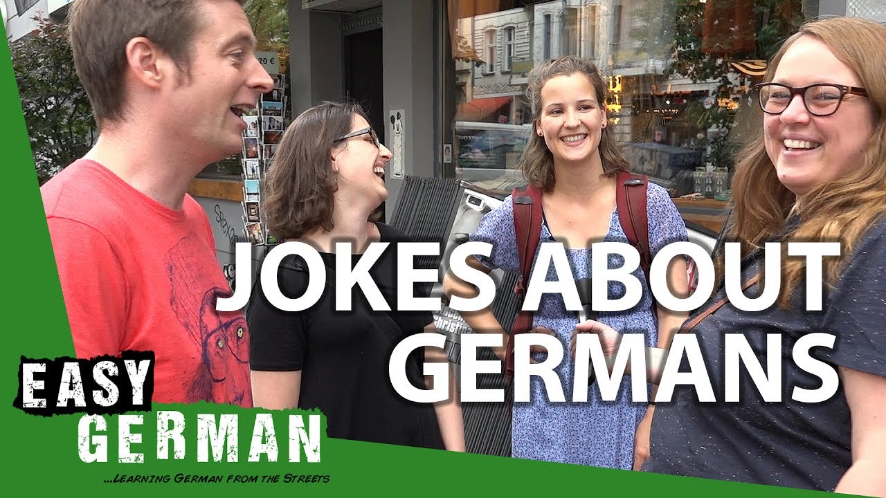 How Germans react to jokes about Germans | Easy German 203 - YouTube