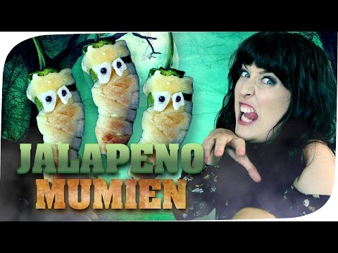 Jalapeño Mumien 🎃 HALLOWEEN PARTY SNACK 🎃 Ella TheBee | #flipfood