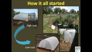 Low-cost Net Houses for Community Gardens and Urban Farms