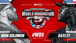 Iron Solomon vs Daylyt