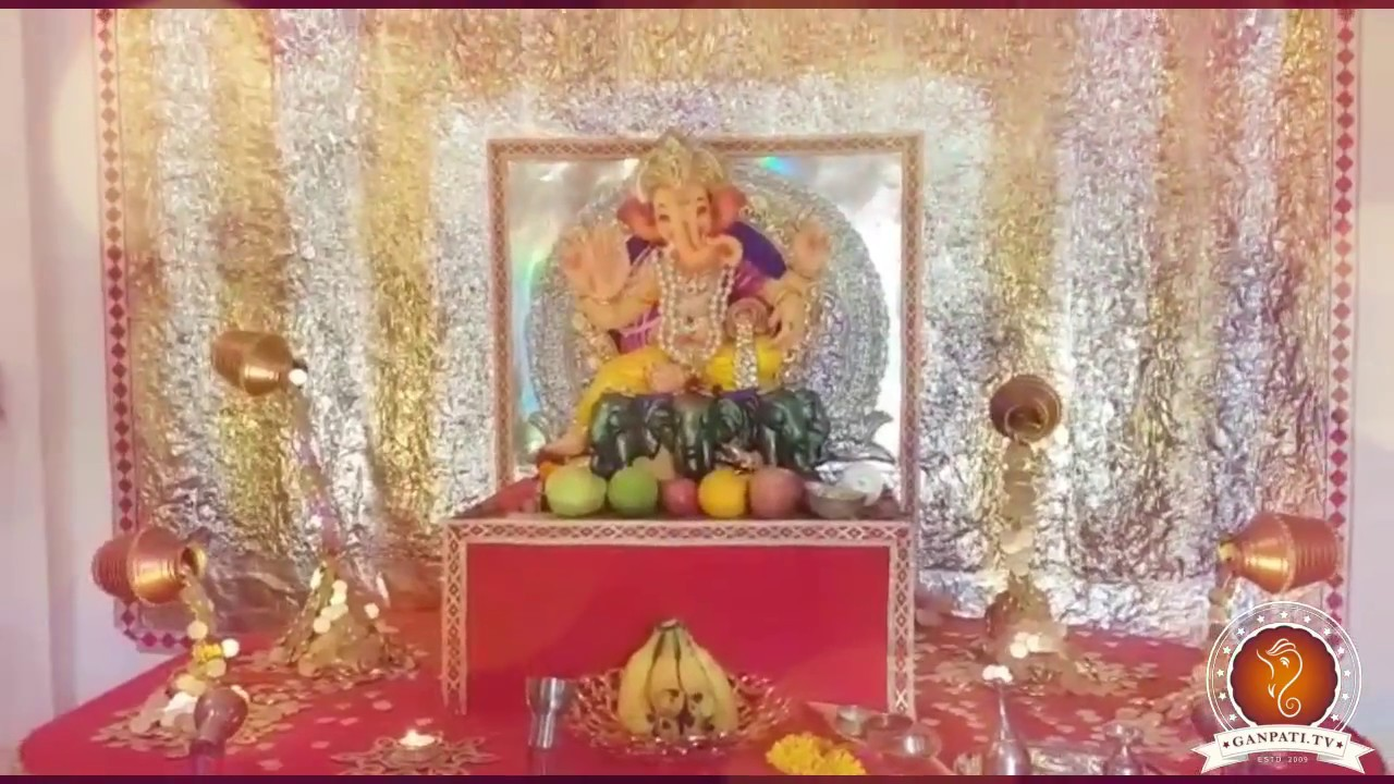 Vaibhav Patkar Home Ganpati Decoration Video Ideas Youtube