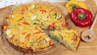 Rezept: ITALIENISCHE FRITTATA MIT BUNTEN GEMÜSE Vegetarisch &amp Low Carb  Kochen mit Melodie
