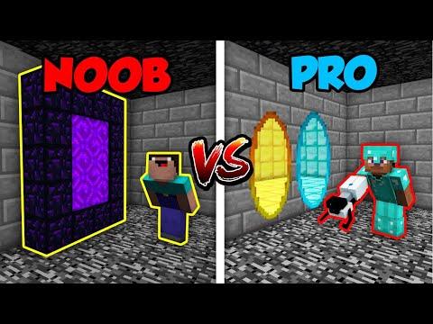 Minecraft NOOB vs. PRO: PORTAL GUN in Minecraft!   AVM Shorts Animation