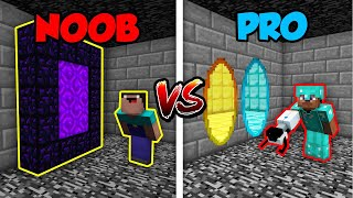 Minecraft NOOB vs. PRO: PORTAL GUN in Minecraft! | AVM Shorts Animation