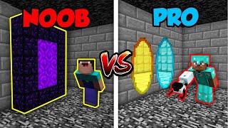 Minecraft NOOB vs. PRO: PORTAL GUN in Minecraft! | AVM Shorts Animation