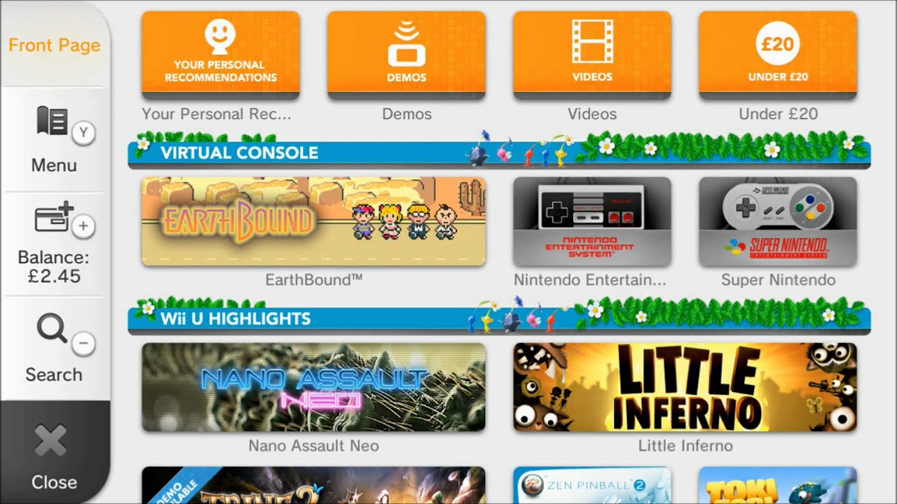 Nintendo wii u e shop update pikmin 3 kirbys dreamland 3 earthbound snes amp nes games
