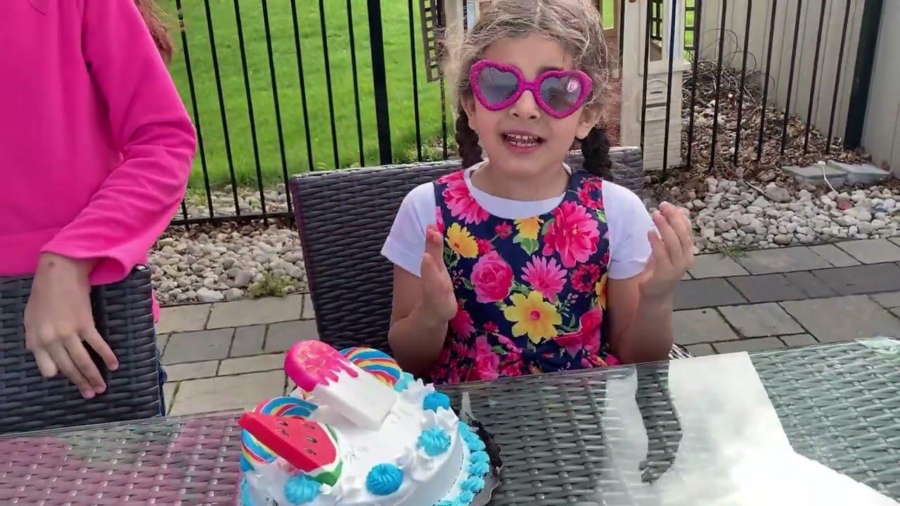 Download Deema and Sally Hot vs Cold Birthday Cake Challenge