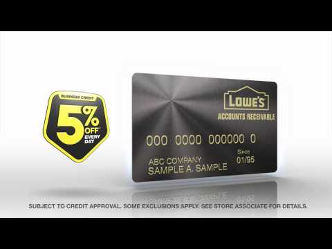 Lowe's Accounts Receivable - Business Credit