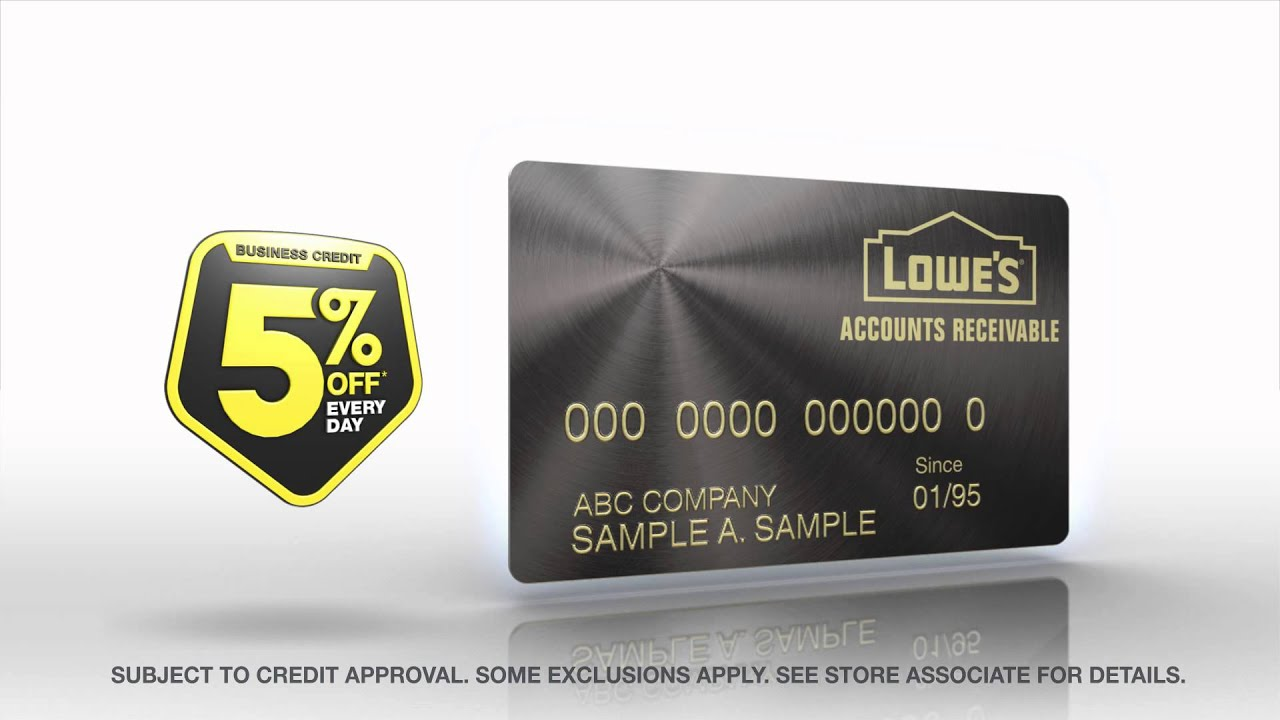 lowe s accounts receivable business credit youtube
