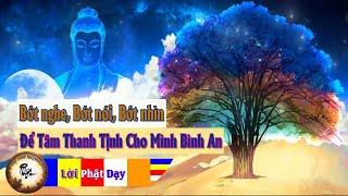 Bớt NGHE Bớt NÓI Bớt NHÌN - Để Tâm Thanh Tịnh Cho Mình Bình An học Lời Phật Dạy để sống được an lạc