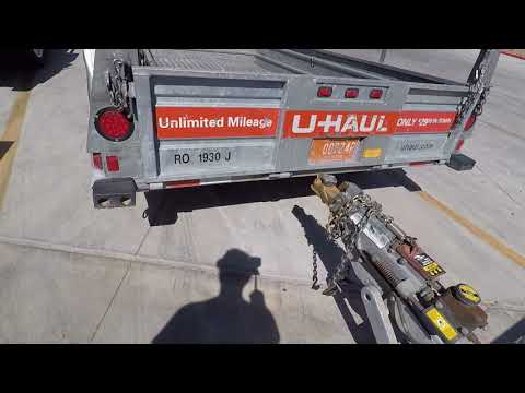 Uhaul 6x12 open trailer review