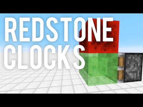 Top 5 Redstone Clocks - Minecraft (Compact, Speed Changeable)
