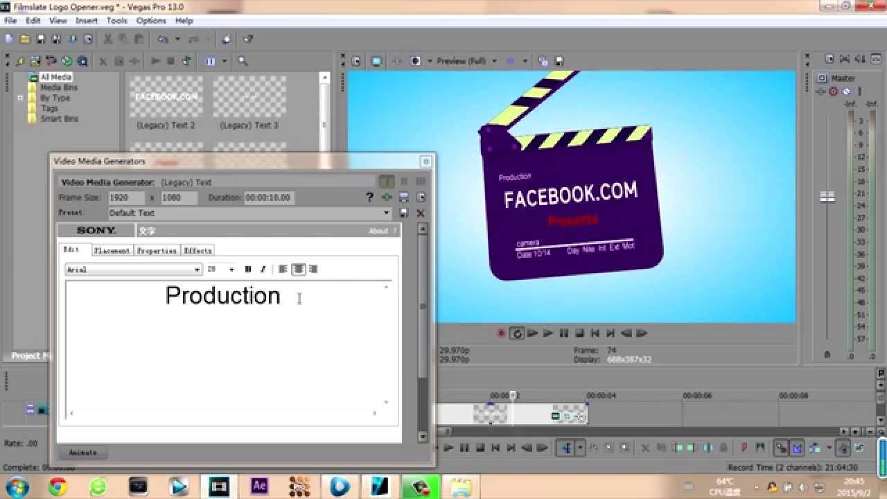 sony vegas pro 9 templates free download - free sony vegas pro 12 template filmslate logo opener