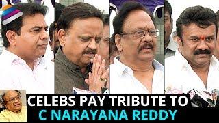 Tollywood Celebs Pay Tribute to C Narayana Reddy | RIP Cinare | Krishnam Raju | KTR | SPB