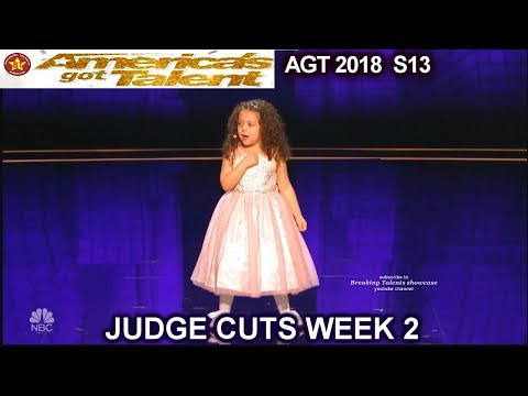Sophie Fatu 5yo singer FULL PERFORMANCE New York New York America's Got Talent 2018 Judge Cuts 2 AGT