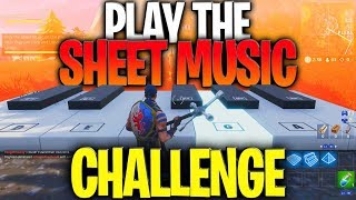 """""""Play The Sheet Music"""" Challenge - How To Play The Sheet Music At Pleasant Park And Lonely Lodge"""