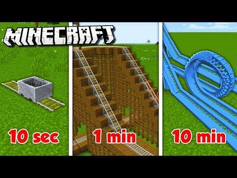 10 MIN vs. 1 MIN vs. 10s ROLLERCOASTER CHALLENGE! (The Pals Minecraft)