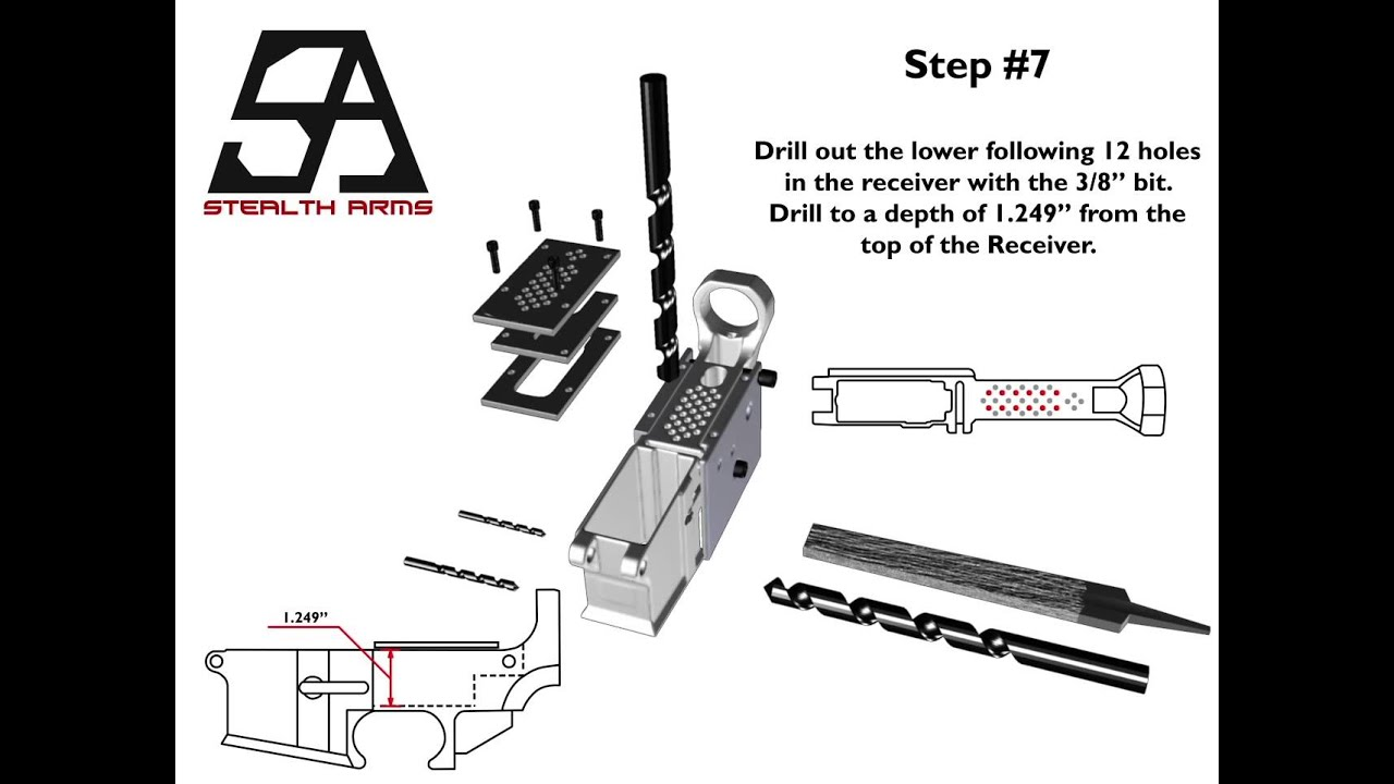 AR-15 80% Lower Receiver with AR-15 Classic Jig - Finishing Video (Stealth  Arms)