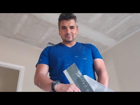 how to skim coat ceilings youtube. Black Bedroom Furniture Sets. Home Design Ideas
